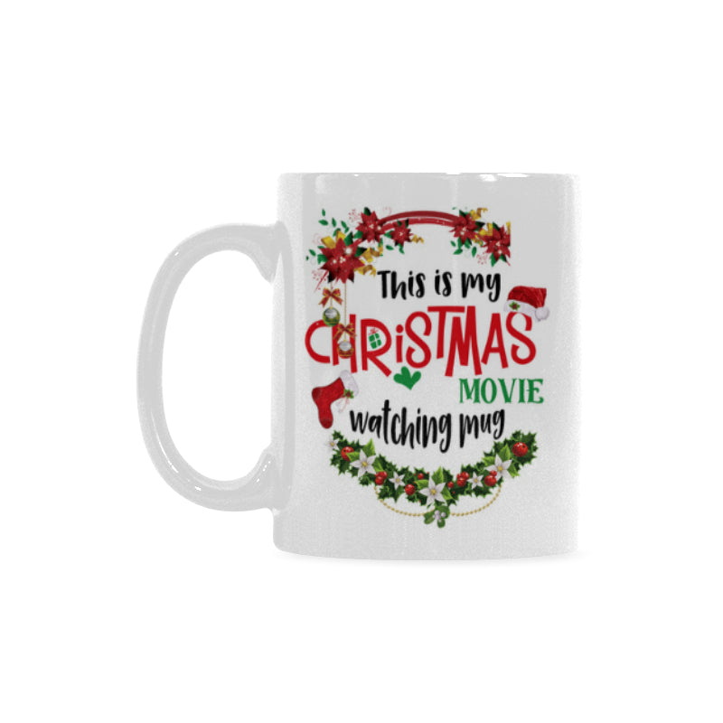 This Is My Christmas Movies Classical White Mug (11 OZ) (Made In USA)