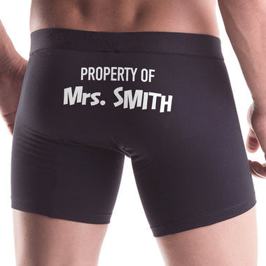 "Property of ""Your Name"" Personalized Men All Over Print Boxer"
