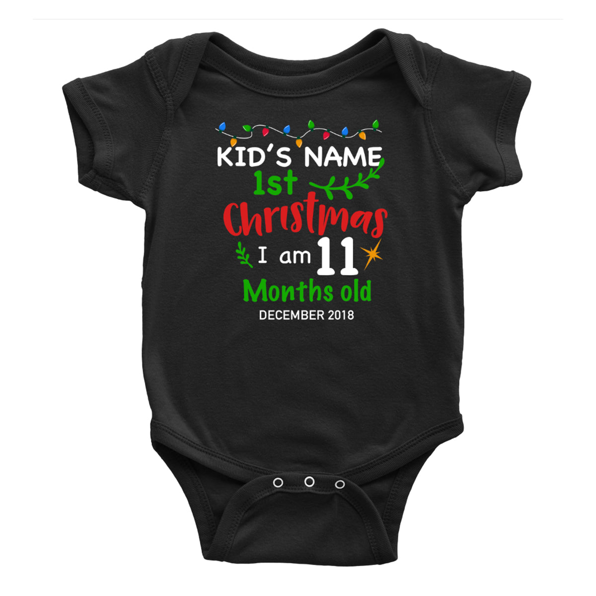 Personalized Kid's Name And Old Months Onesie