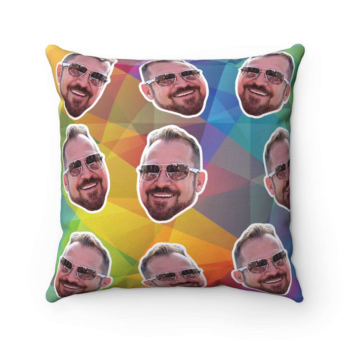 Gay Pride Pillow - LGBT Pillow, Personalize Pillow with your face
