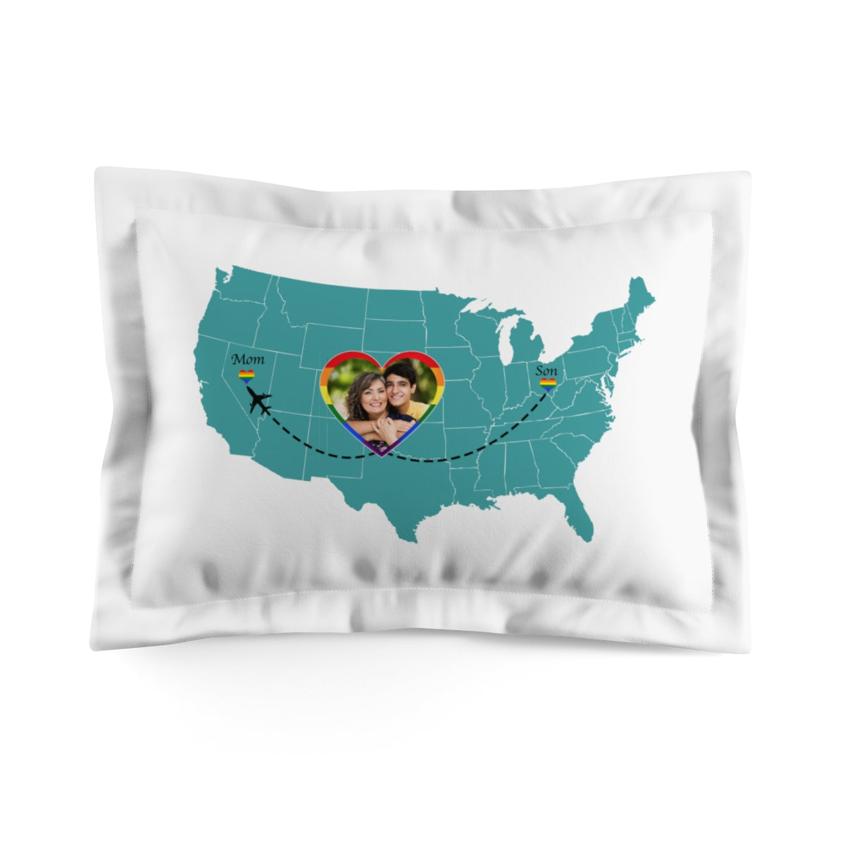 LGBT Love Mother And Son - Personalized Pillow