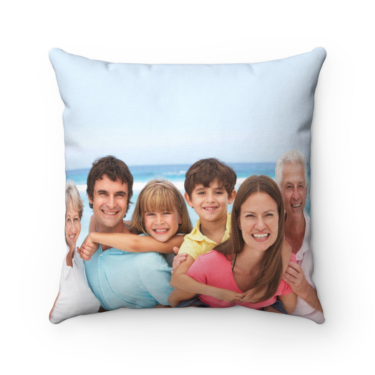 Family Personalized Square Pillow Case w/ stuffing - With your photo 2