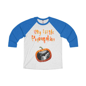 """My Little Pumpkin..."" Personalized Your Ultrasound Images 3/4 Raglan Tee"