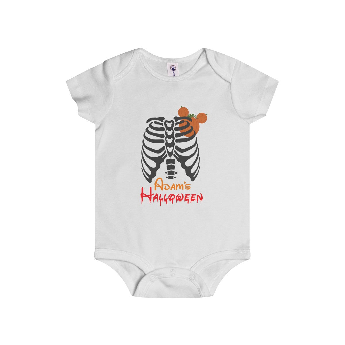 Halloween Skull Chest Personalized Onesies Your Kid S Name