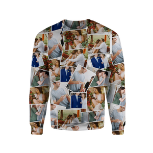 Valentine's Day Gift Custom Photo Album Unisex Sweatshirt