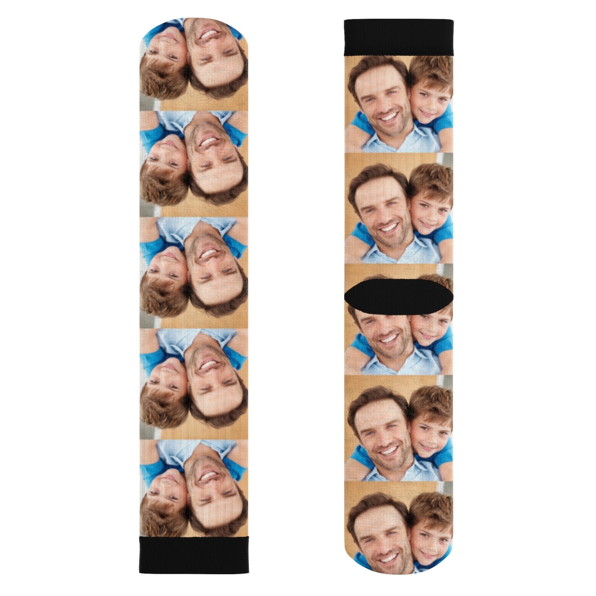 Fabulous Dad, I Love you, Personalized Socks With Your Photos full face  XR92