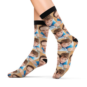 Dad, I Love you, Personalized Socks With Your Photos full face