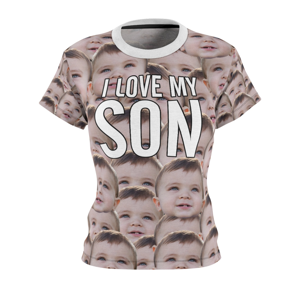 "Women's T-Shirt ""I Love My Son"" All-Over Printed"