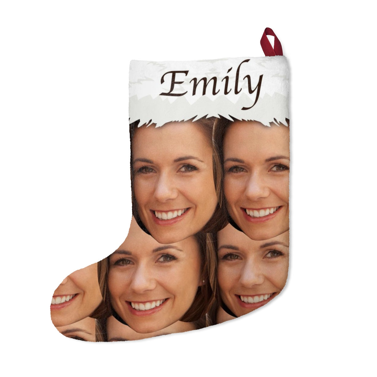 Personalized Photo And Name Christmas Stockings
