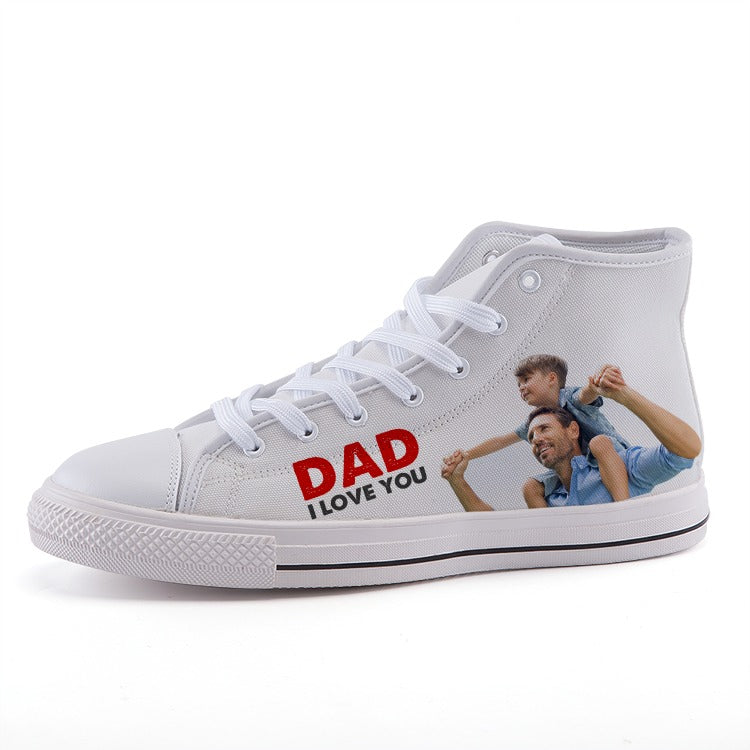Dad, I Love You - Kids and Adult High-top canvas shoes