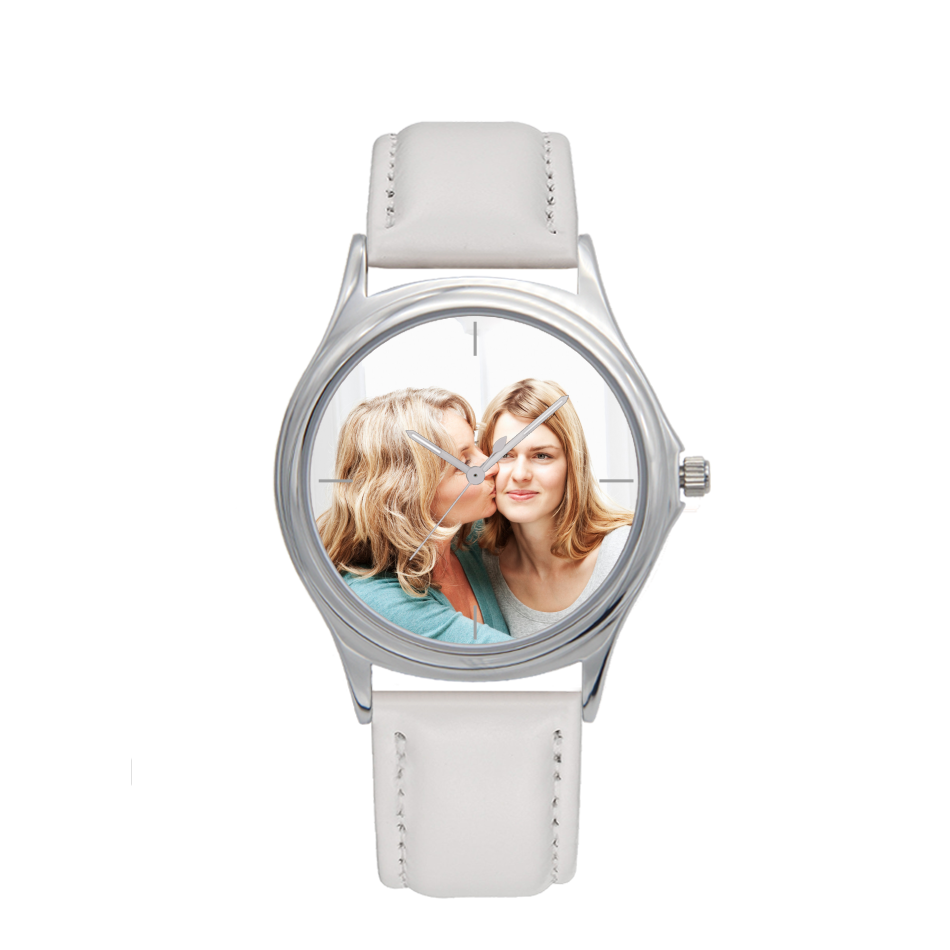 Silver Metal Water-resistant Quartz - Personalized Watch