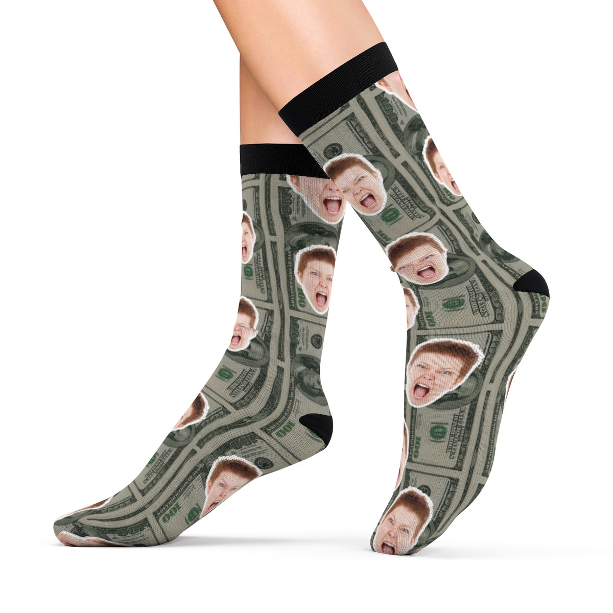 Funny Dollar Socks With Your Face Personalized Socks