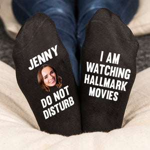 Christmas Socks, Do Not Disturb Funny Personalized Socks