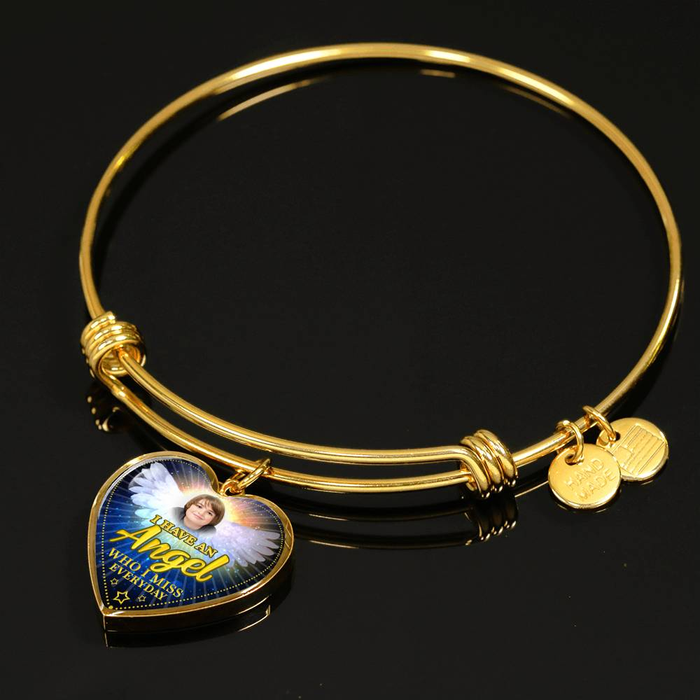 "Gold Luxury 18k Luxury Bangle ""I Am An Angel ....."" Custom Jewelry"