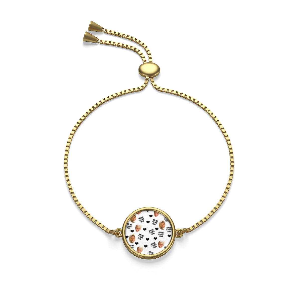 Mom, I love you , Box Chain Bracelet