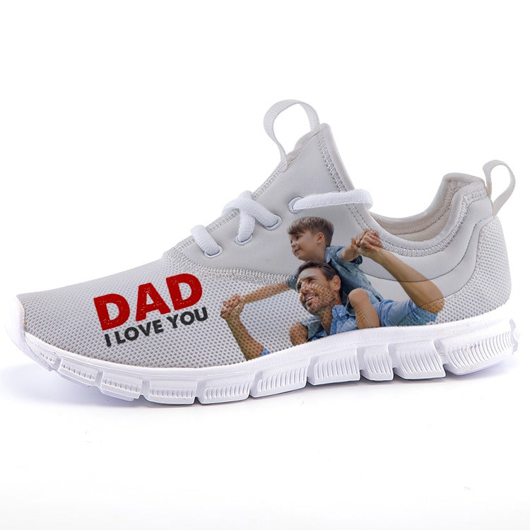 Dad, I Love You Sneakers casual sports shoes
