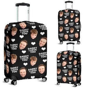 Dad, I Love you, Personalized Luggage With Your Photos
