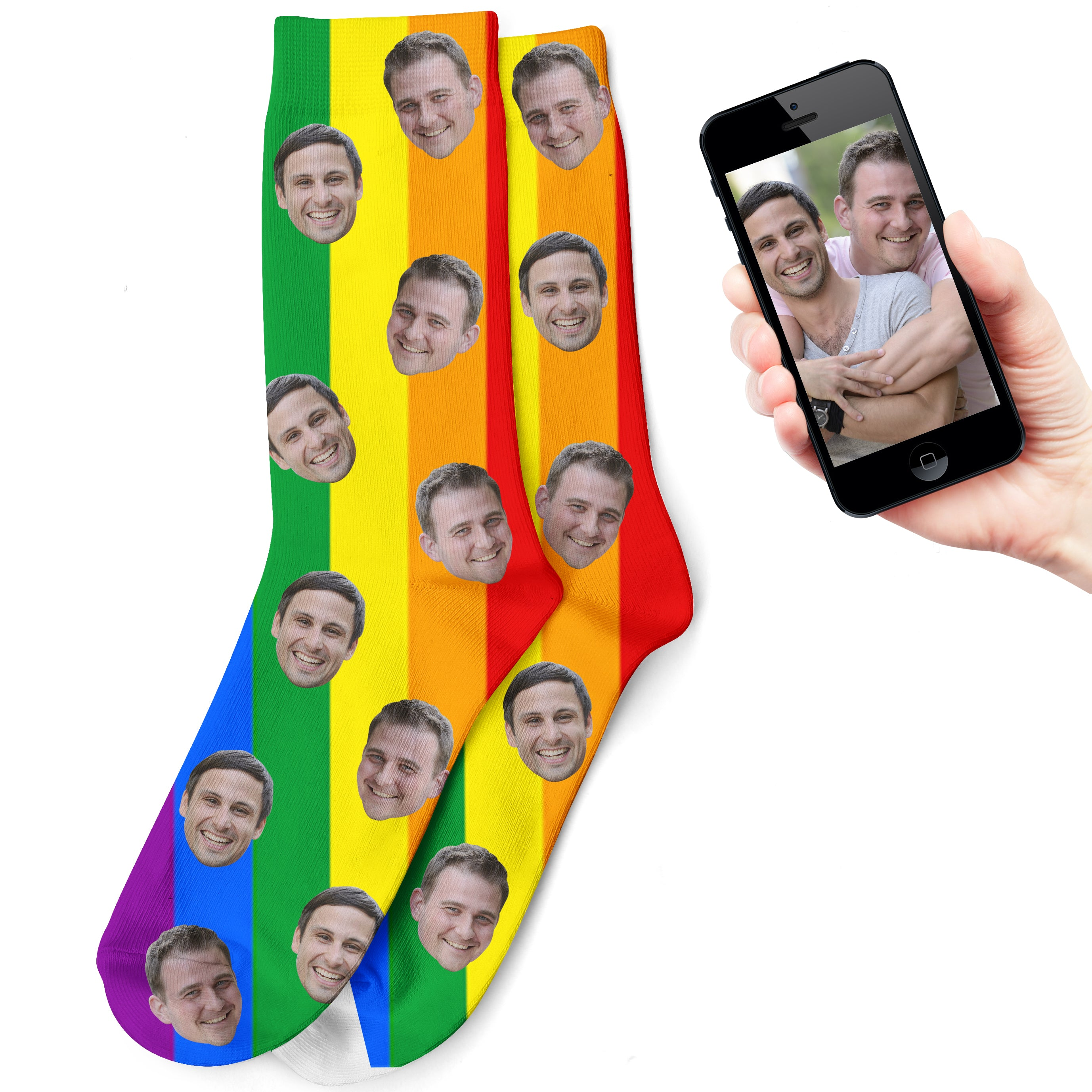 Gay Pride Socks - LGBT Socks, Personalize Socks with your face