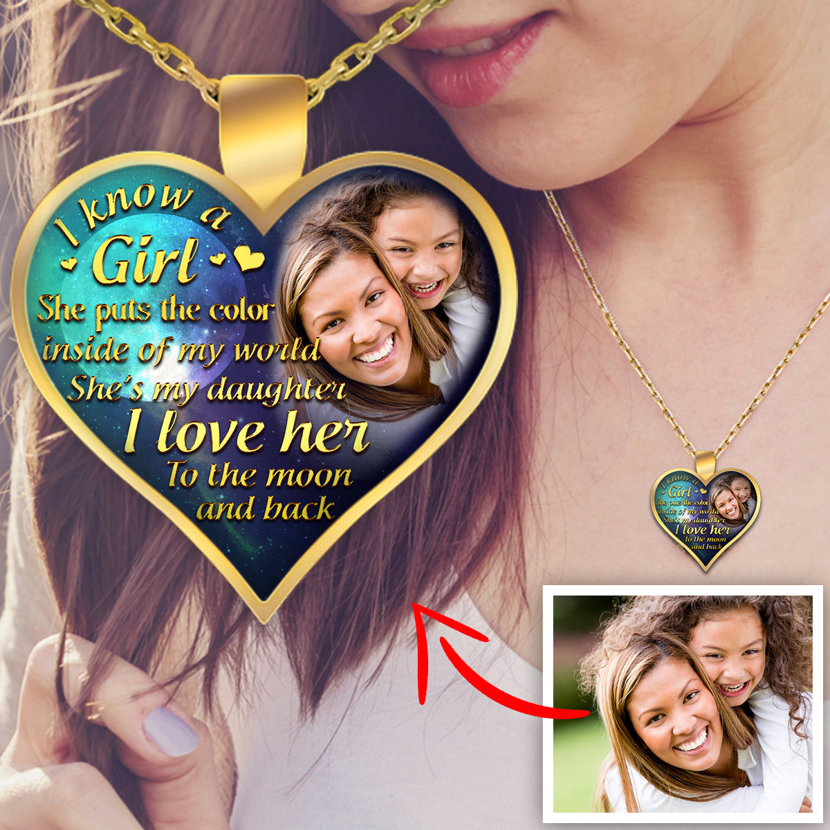 """I Know A Girl, She Puts The Color.."" Personalized Necklace"