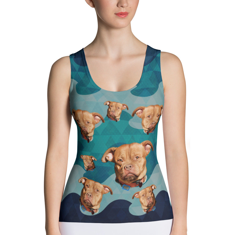 Funny Personalize Tank Top With Your Dog Face