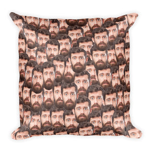 Premium - Funny Personalized Square Pillow Case w/ stuffing - With your face images
