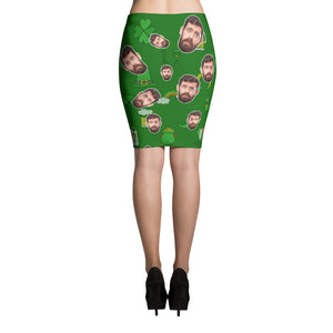 Saint Patrick's Day - Funny Personalized Skirt with Your Face