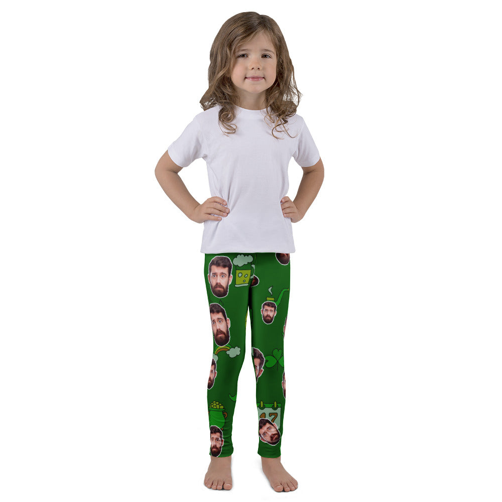 Saint Patrick's Day - Funny Personalize Kid Legging With Your Face