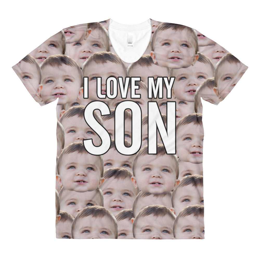 """I Love My Son"" All-Over Printed Women T-Shirt"