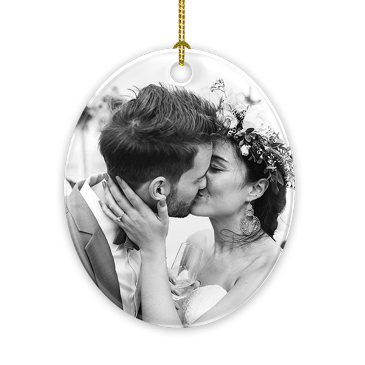 Oval Ceramic Ornaments Personalized Your Photo
