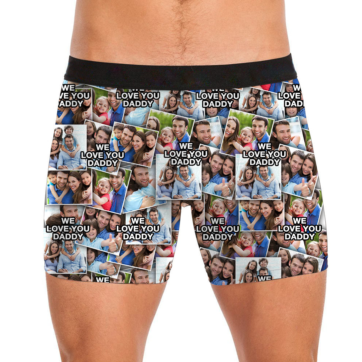 We Love You Daddy Personalized Photo Album Photo Mens All Over Print Boxer