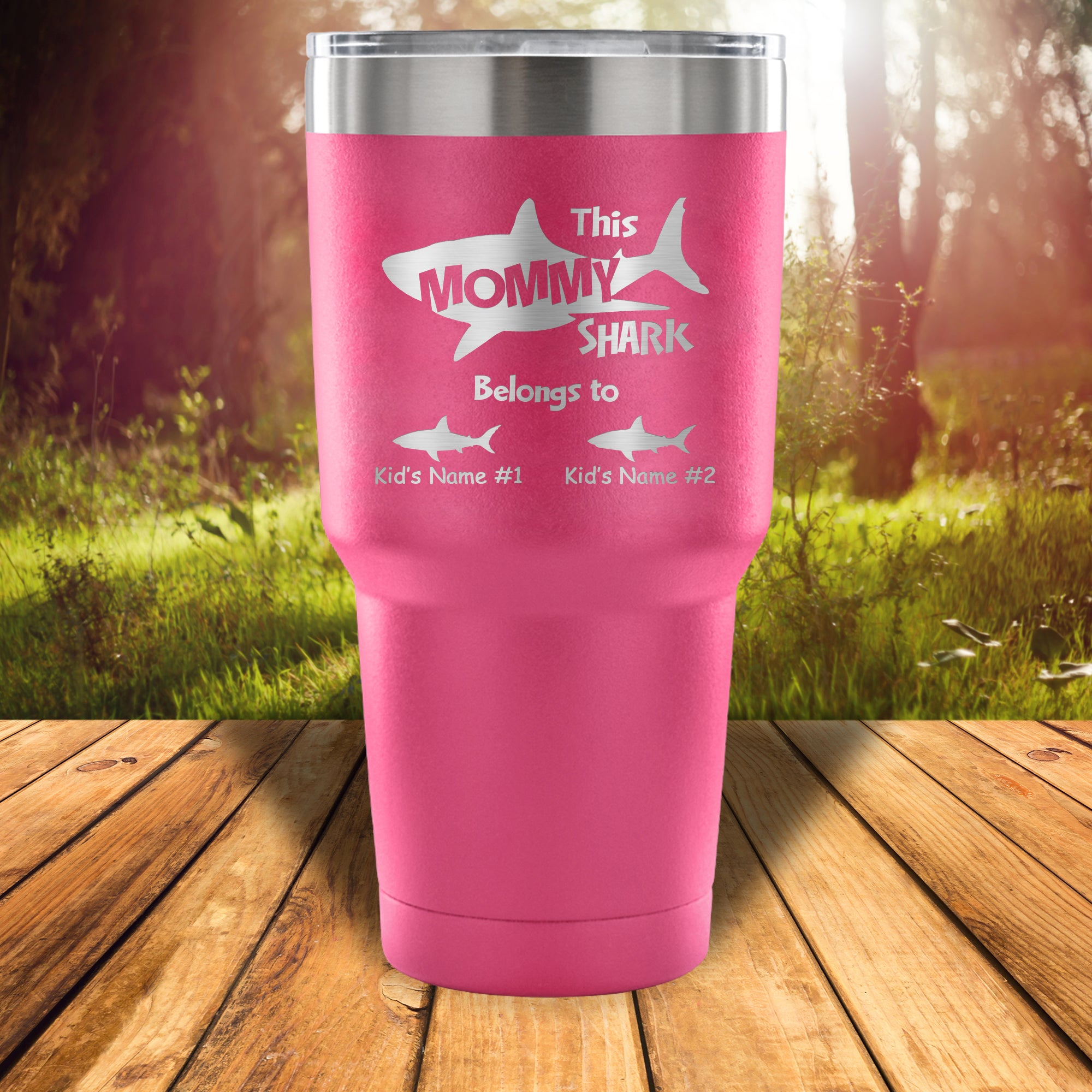 """This Mommy Shark Belong To ..."" 30 Ounce Vacuum Tumbler"