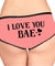 I Love You Personalized Face, Women All Over Print Underwear