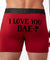 I Love You Personalized Face,  Men All Over Print Boxer