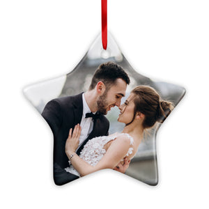 Star Ceramic Ornaments Personalized Your Photo