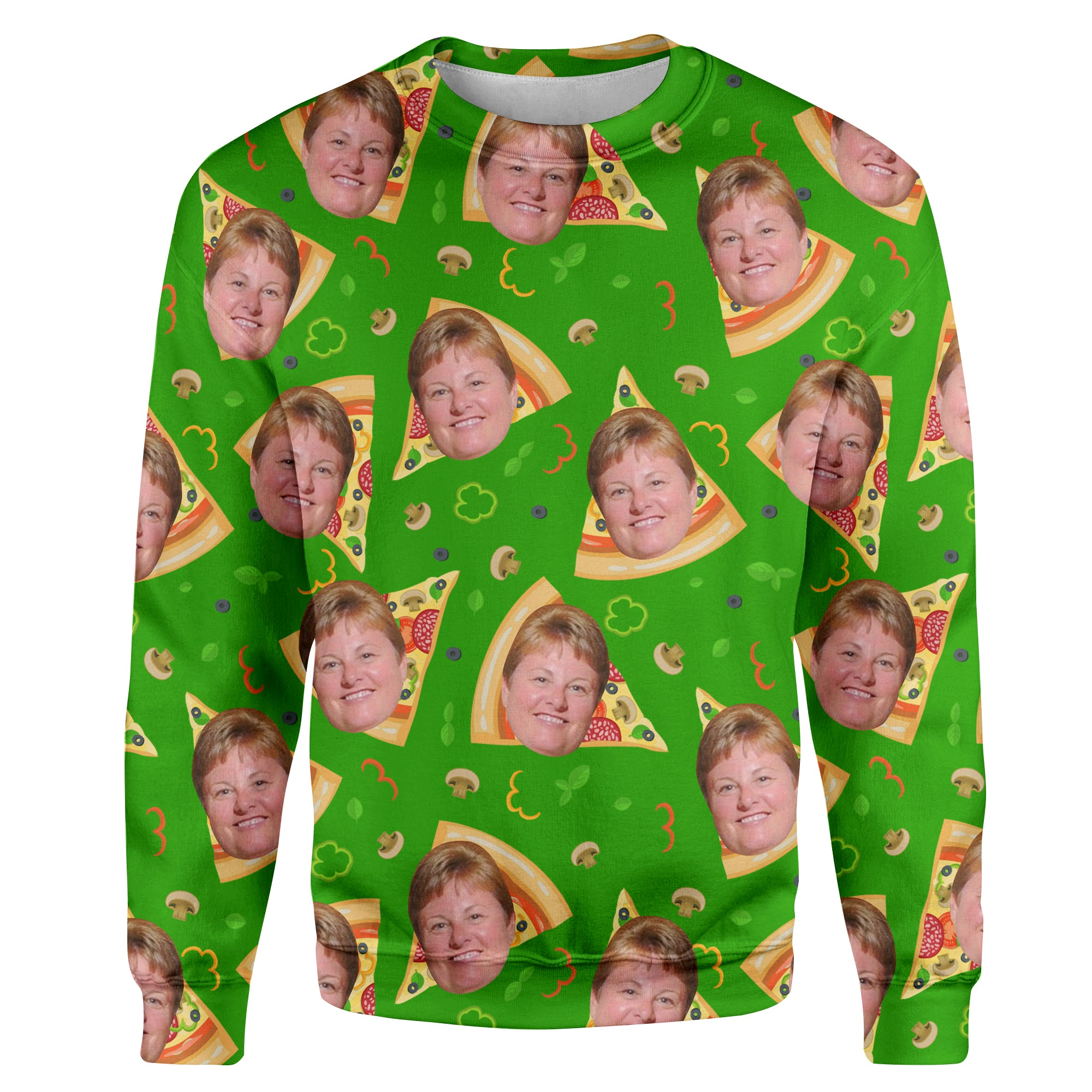 Green Matching Family Sweater - Personalized With Your Face