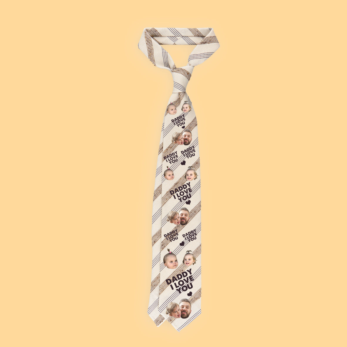 personalized ties daddy i love you maximum 4 faces limit