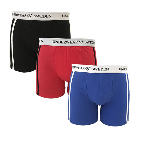 Mens Boxers 3-Pack (Black & White)