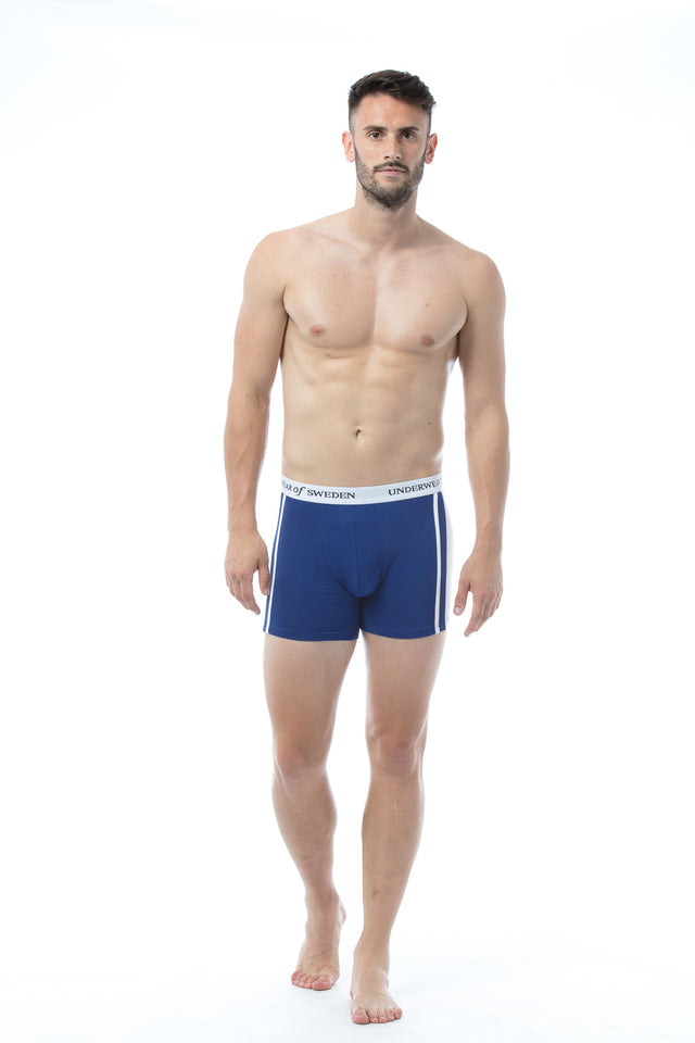 Navy & White Boxer Shorts
