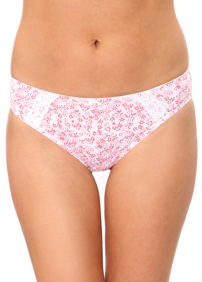 Eva BRIEF RaspberryFloralPrint