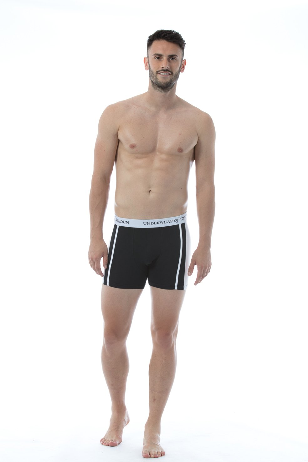 Black & White Boxer Shorts
