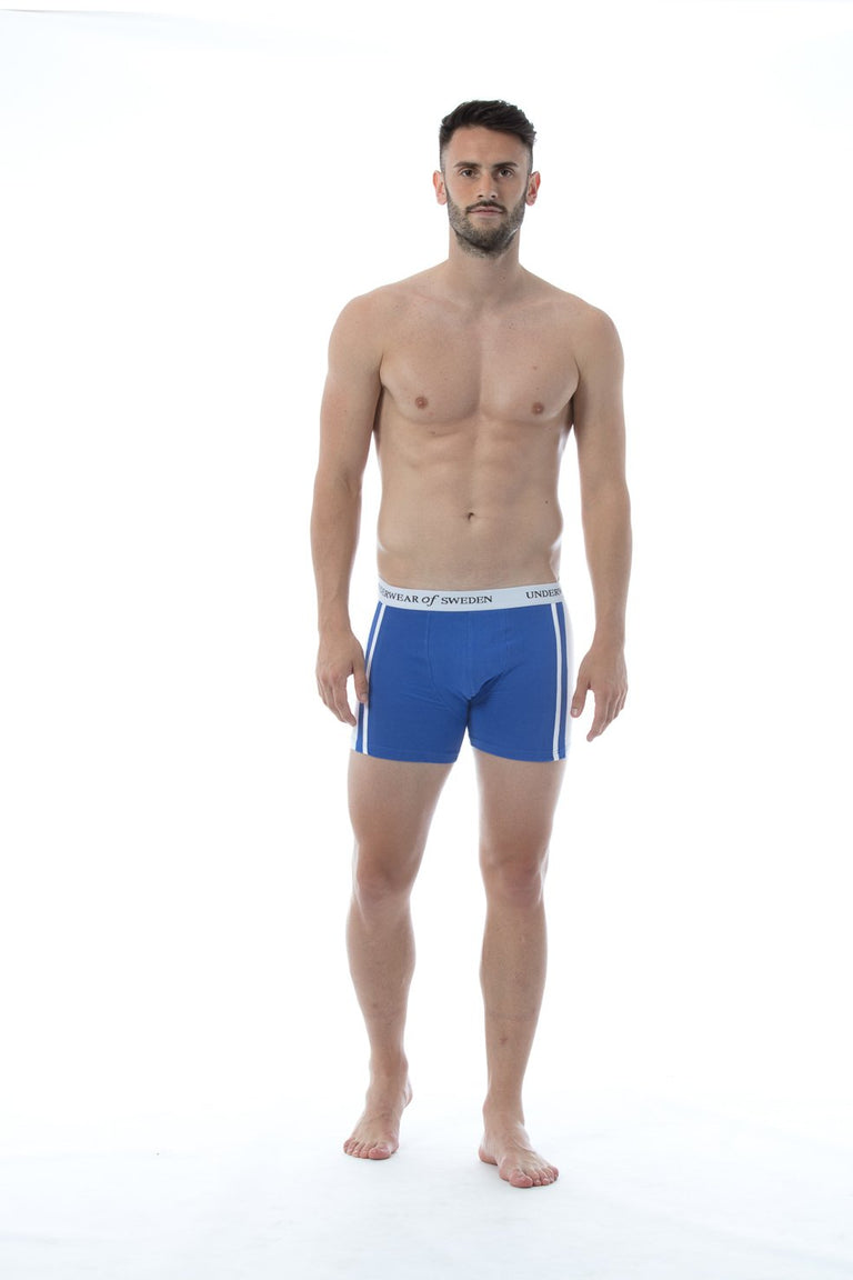 Blue & White Boxer Shorts
