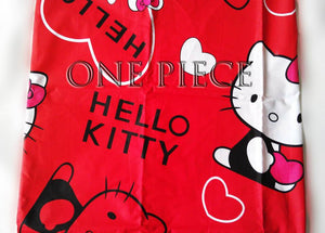 Red Kitty Fitted Bedsheet ( Size: Single)