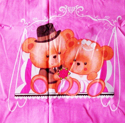 Wedding Bear Bedsheet (Size: King)
