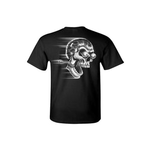Men's T Shirt White Flame Skull Shut Up & Ride Tee