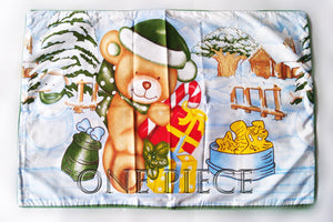 Christmas Bear Bedsheet (Size: Single)