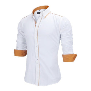 Men Slim Fit Male Shirt