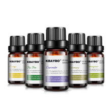 Essential Oil(10 ml) for Diffuser, Aromatherapy Oil Humidifier 6 Kinds Fragrance of Lavender, Tea Tree, Rosemary, Lemongrass, Orange