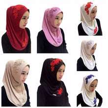 Lace Floral Embroidery Hijabs