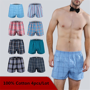 Classic Plaid Men's Boxers Cotton Mens Boxers