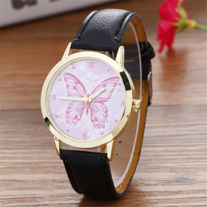 Butterfly Pattern Fashion Leather Watch